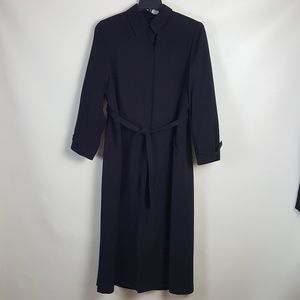 Anna Kline Black Long Lined Dress Coat sizeb10